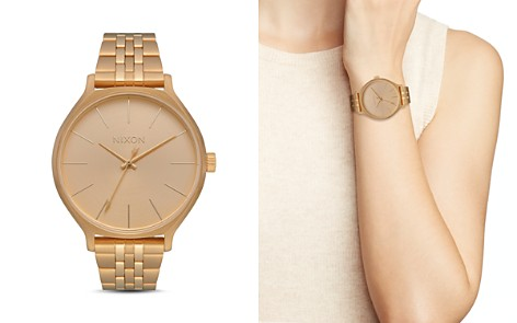 Nixon Clique Gold-Tone Watch, 38mm - Bloomingdale's_2