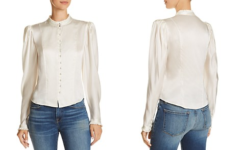 FRAME Victorian Silk Blouse - Bloomingdale's_2