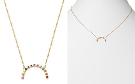 "Zoë Chicco 14K Yellow Gold Rainbow Sapphire Medium Arc Pendant Adjustable Necklace, 16""-18"" - Bloomingdale's_2"