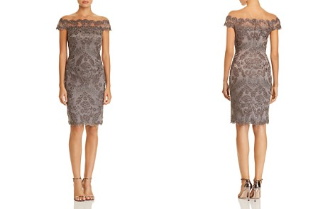 Tadashi Shoji Embroidered Illusion Dress - 100% Exclusive - Bloomingdale's_2