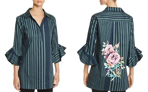 Badgley Mischka Floral Stripe Tunic - Bloomingdale's_2