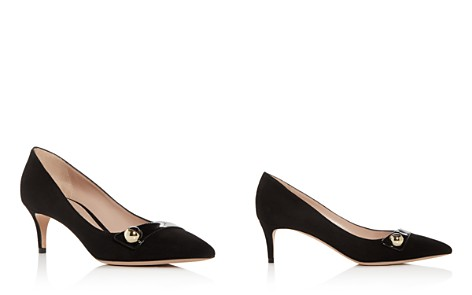 Giorgio Armani Women's Decollete Suede Kitten-Heel Pointed Toe Pumps - Bloomingdale's_2
