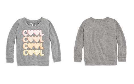 CHASER Girls' Cool Heart Raglan Sweatshirt - Little Kid, Big Kid - Bloomingdale's_2