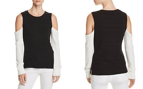LNA Aya Cold-Shoulder Color-Block Sweater - Bloomingdale's_2