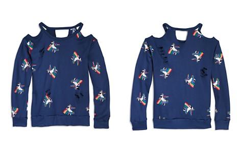 Flowers by Zoe Girls' Distressed Unicorn-Print Terry Sweatshirt - Big Kid - Bloomingdale's_2