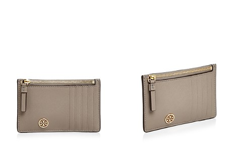 Tory Burch Robinson Zip Leather Slim Card Case - Bloomingdale's_2