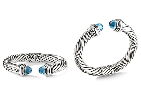 David Yurman Cable Classics Bracelet with Blue Topaz, 10mm - Bloomingdale's_2