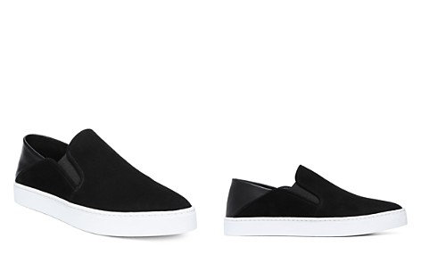 Vince Women's Garvey Round Toe Slip-On Suede & Leather Sneakers - Bloomingdale's_2