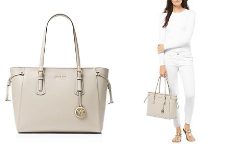 MICHAEL Michael Kors Voyager Medium Top Zip Leather Tote - Bloomingdale's_2