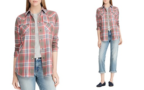 Lauren Ralph Lauren Western-Style Plaid Shirt - Bloomingdale's_2