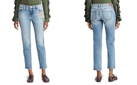 Lauren Ralph Lauren Embellished Crop Tapered Jeans in Indigo - Bloomingdale's_2