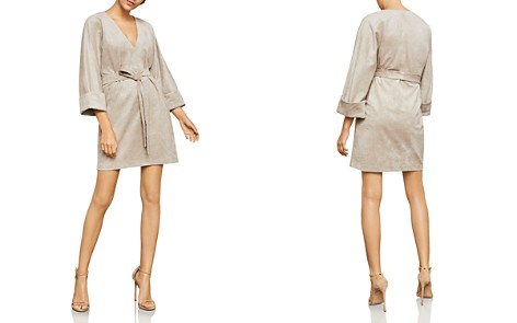 BCBGMAXAZRIA Belted Faux Suede Dress - Bloomingdale's_2