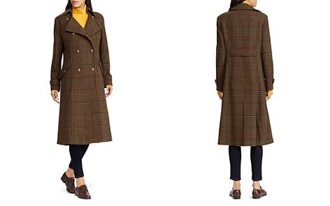 Lauren Ralph Lauren Double-Breasted Button Front Gun Check Maxi Coat - Bloomingdale's_2