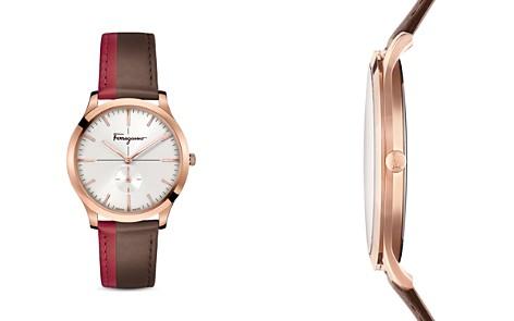 Salvatore Ferragamo Slim Formal Brown & Red Strap Watch, 40mm - Bloomingdale's_2