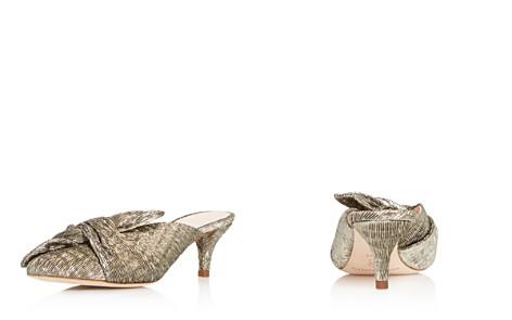 Loeffler Randall Women's Jade Pointed Toe Metallic Kitten Heel Mules - Bloomingdale's_2