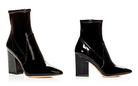 Loeffler Randall Women's Isla Patent Leather Block-Heel Booties - Bloomingdale's_2