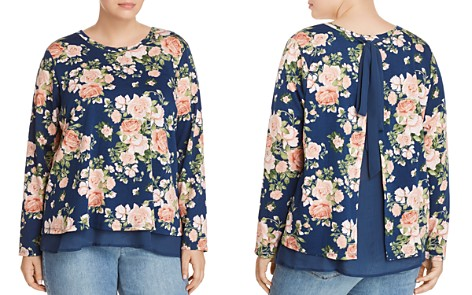 B Collection by Bobeau Curvy Floral Overlay Top - Bloomingdale's_2