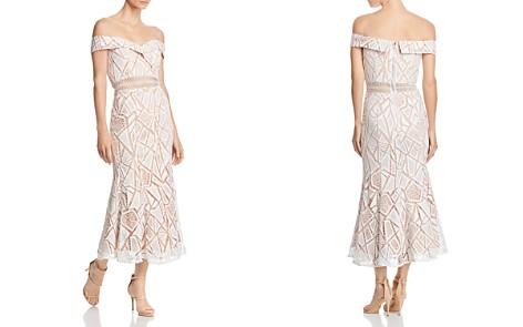 Jarlo Off-the-Shoulder Lace Midi Dress - Bloomingdale's_2