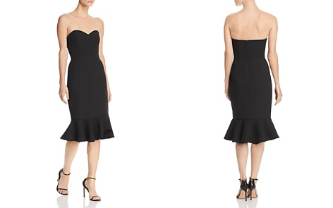 BCBGMAXAZRIA Strapless Crepe Dress - Bloomingdale's_2
