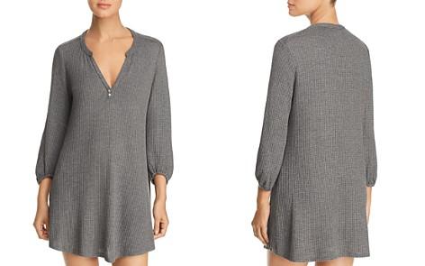 Eberjey Ula Peasant Waffle-Knit Sleepshirt - Bloomingdale's_2