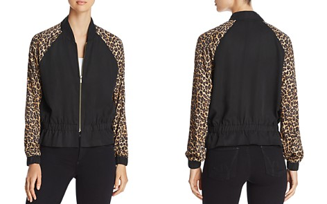 Three Dots Leopard Print Bomber Jacket - Bloomingdale's_2