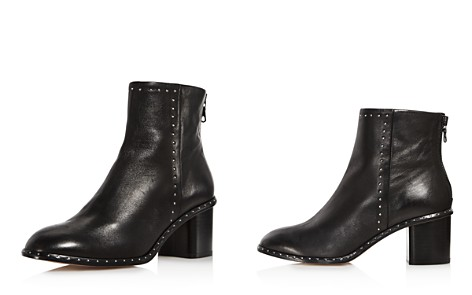 rag & bone Women's Willow Round Toe Studded Leather Mid-Heel Booties - Bloomingdale's_2