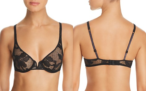 Calvin Klein CK Black Lily Lace Unlined Balconette Underwire Bra - Bloomingdale's_2