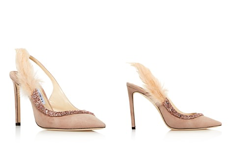 Jimmy Choo Women's Tacey 100 Embellished Suede Slingback Pumps - Bloomingdale's_2