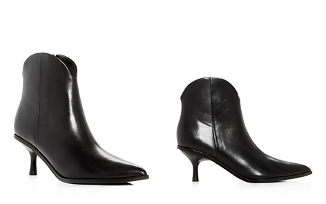 Sigerson Morrison Women's Hayleigh Leather Kitten-Heel Booties - Bloomingdale's_2