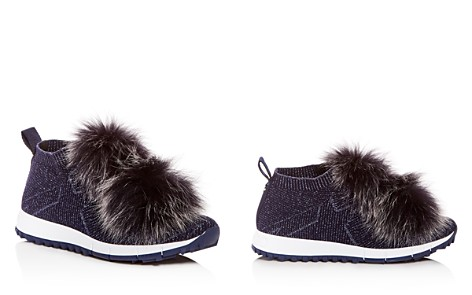 Jimmy Choo Women's Norway Fox Fur Pom-Pom Slip-On Sneakers - Bloomingdale's_2