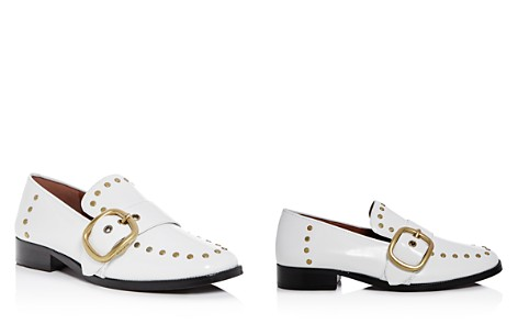 COACH Women's Alexa Studded Leather Buckle Loafers - Bloomingdale's_2