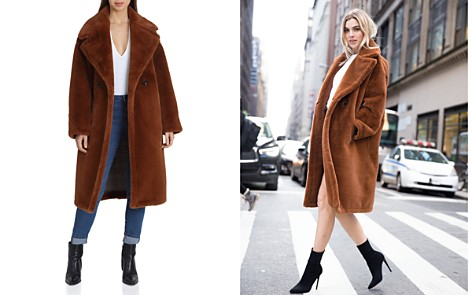 Avec Les Filles Oversized Double-Breasted Front Teddy Bear Coat - Bloomingdale's_2