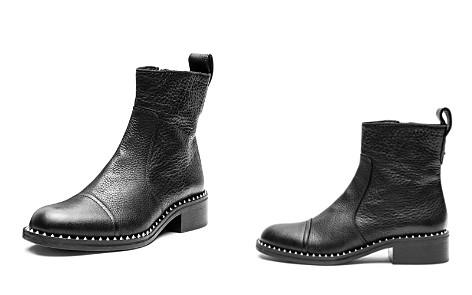Zadig & Voltaire Women's Empress Clous Round Toe Leather Low-Heel Booties - Bloomingdale's_2