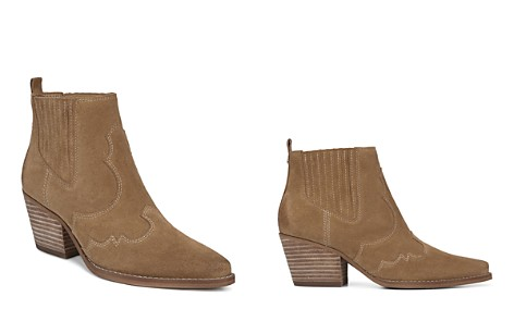 Sam Edelman Women's Winona Pointed Toe Suede Mid-Heel Booties - Bloomingdale's_2