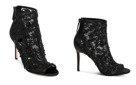 Badgley Mischka Women's Verona Open Toe Embellished High-Heel Booties - Bloomingdale's_2