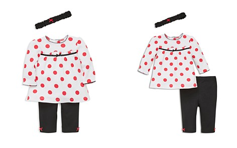 Little Me Girls' Polka Dot Tunic, Leggings & Headband Set - Baby - Bloomingdale's_2
