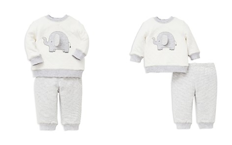 Little Me Boys' Elephant Sweatshirt & Striped Jogger Pants Set - Baby - Bloomingdale's_2