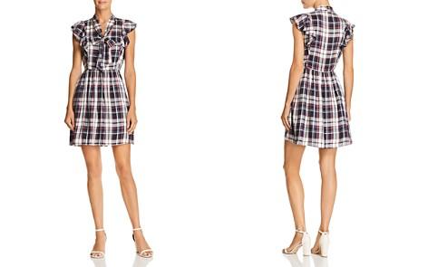 AQUA Plaid Tie-Neck Dress - 100% Exclusive - Bloomingdale's_2