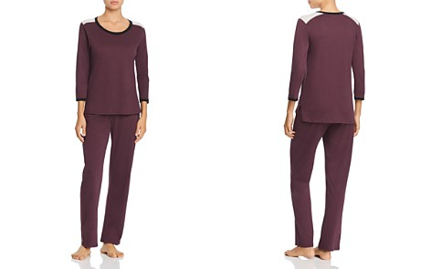 Naked Combed Cotton Colorblock Long PJ Set - Bloomingdale's_2