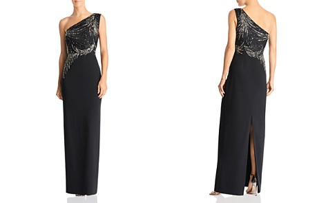 Adrianna Papell Embellished One-Shoulder Gown - Bloomingdale's_2
