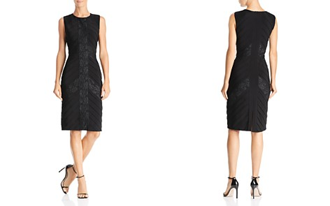 Adrianna Papell Lace-Inset Pintuck Dress - Bloomingdale's_2