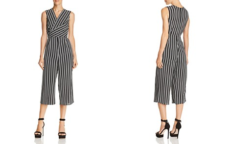 AQUA Twist Detail Striped Jumpsuit - 100% Exclusive - Bloomingdale's_2