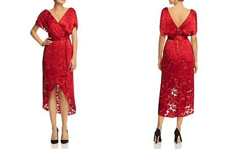 Alice + Olivia Darva Floral Burnout Faux-Wrap Midi Dress - Bloomingdale's_2