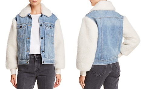 La Vie Rebecca Taylor Faux-Fur-Paneled Denim Jacket - Bloomingdale's_2