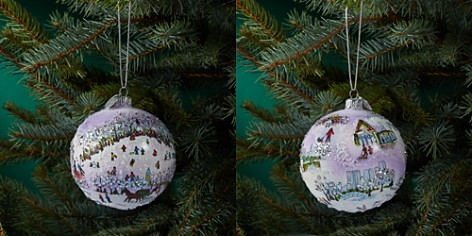 Michael Storrings Central Park Sledding Glass Ball Ornament - Bloomingdale's_2