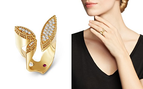 Roberto Coin 18K Yellow Gold Diamond Petals Diamond Ring - 100% Exclusive - Bloomingdale's_2