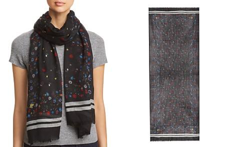 AQUA Border-Stripe Floral Wool Scarf - 100% Exclusive - Bloomingdale's_2