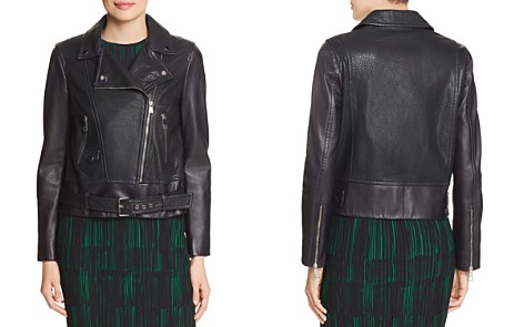 BOSS Sadana Leather Moto Jacket - Bloomingdale's_2