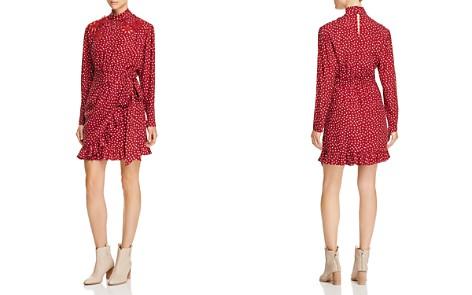 Rebecca Taylor Silk Ruffle-Trim Heart-Print Dress - Bloomingdale's_2