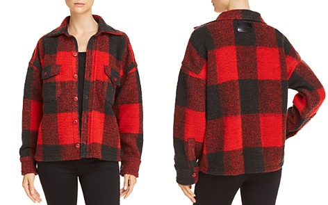 Anine Bing Bobbi Plaid Flannel Jacket - Bloomingdale's_2